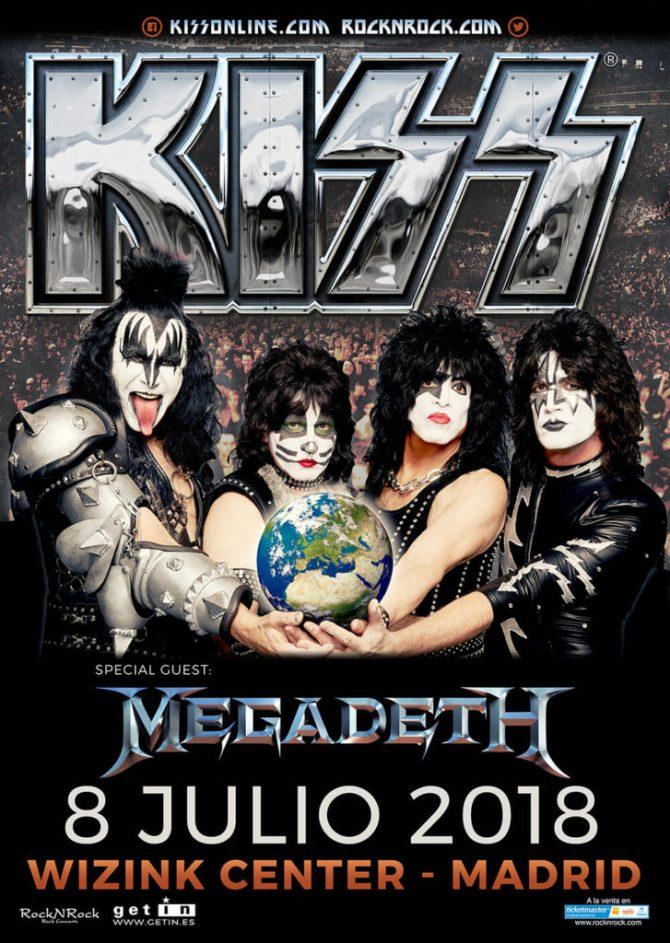 Megadeth abrirán para Kiss en Wizink Center Madrid 2018