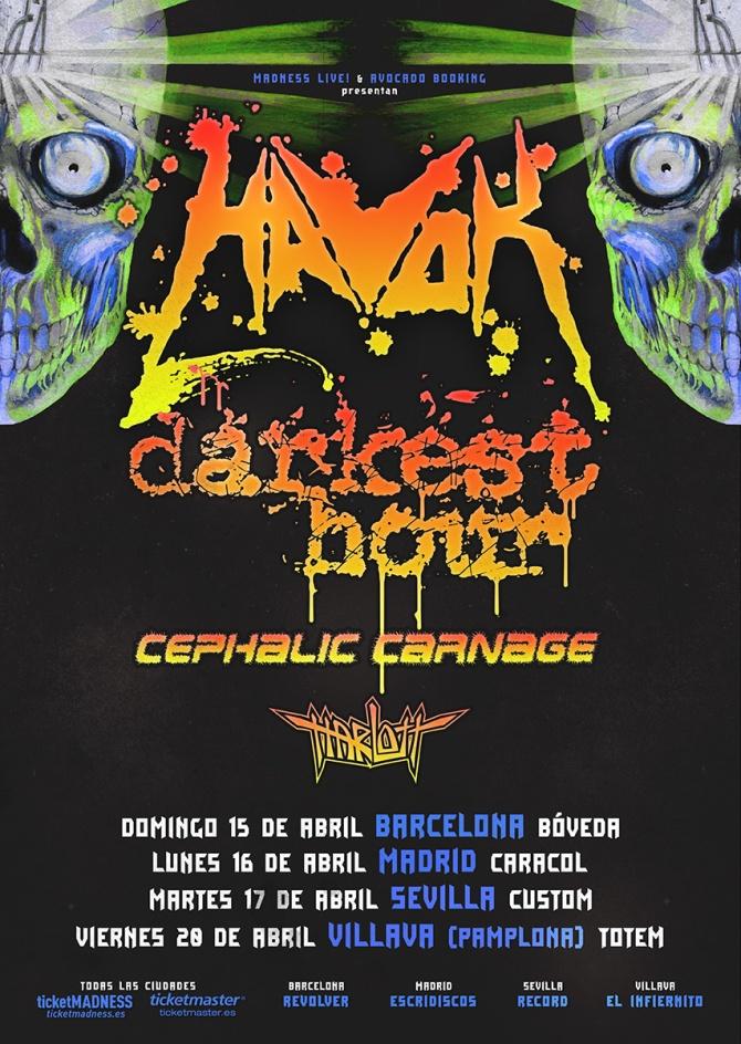 Amplia gira española de HAVOK en abril 2018 2