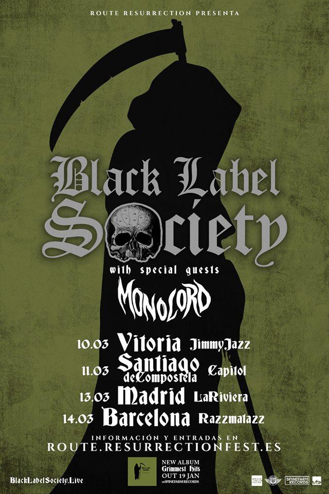 Monolord invitado especial en la gira de Black Label Society