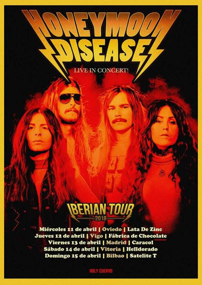 Turbo gira ibérica de Honeymoon Disease en abril 2018