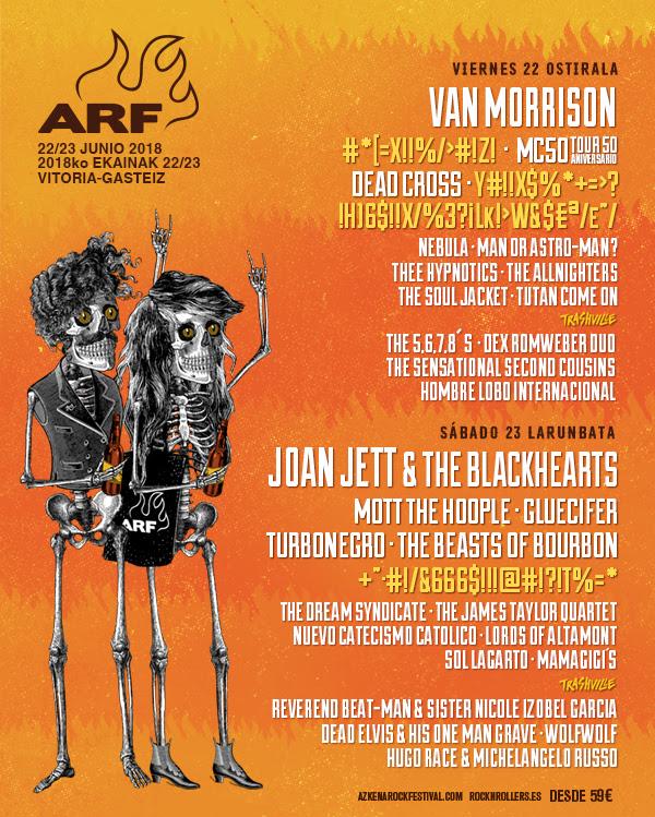 Cartel por días Azkena Rock Festival 2018