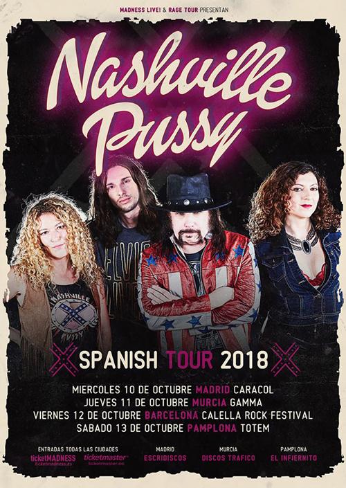 Nashville Pussy Spanish Tour 2018