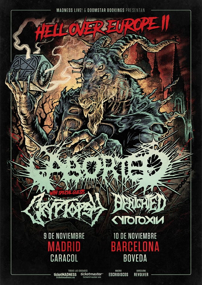 Cartel Aborted, Cryptopsy, Benighted y Cytotoxin