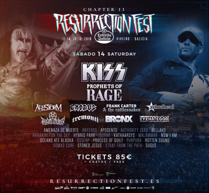 Cartel completo Sábado Resurrection Fest 2018