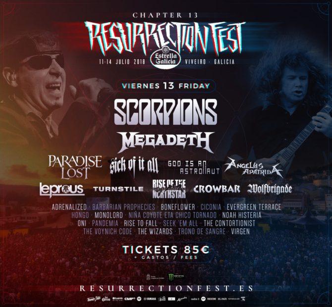 Cartel completo Viernes Resurrection Fest 2018