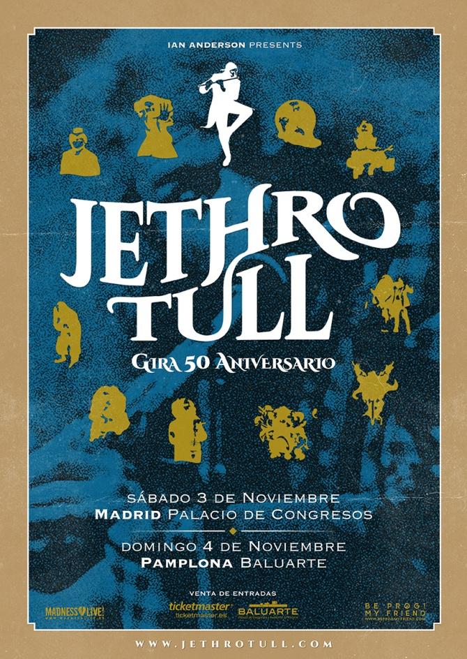 Cartel Gira 50 Aniversario Jethro Tull 2018