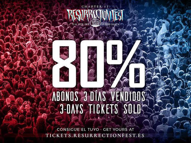 El 80% de los abonos de 3 días para el Resurrection Fest ya se han vendido