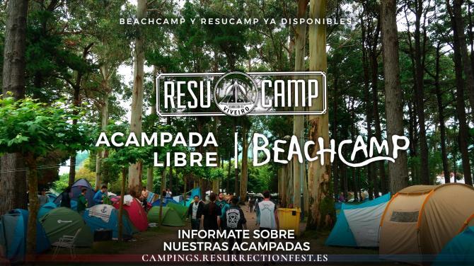 Ya disponibles las entradas para el Beachcamp y Resucamp