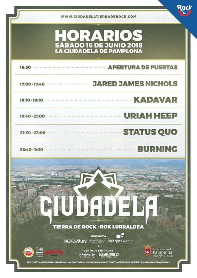 Ciudadela Tierra de Rock · Rok Lurraldea-2018-horarios