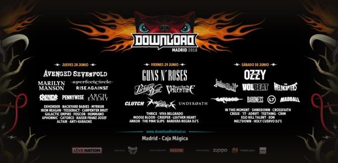 Desvelados los horarios del Download Festival Madrid 2018 4