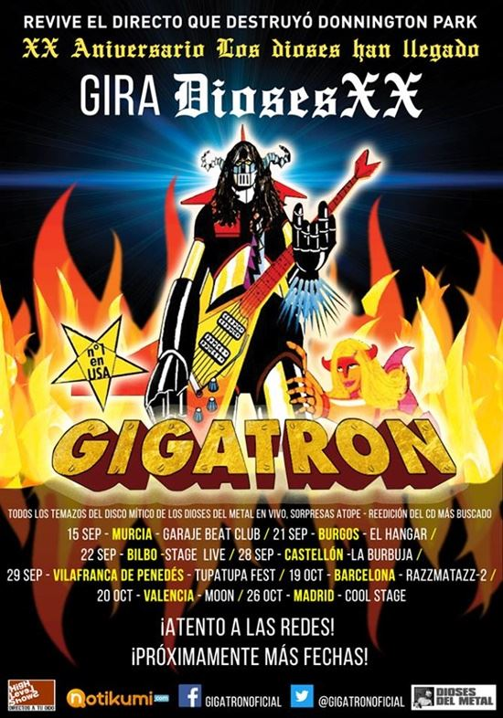 Gira Dioses XX Aniversario de Gigatron