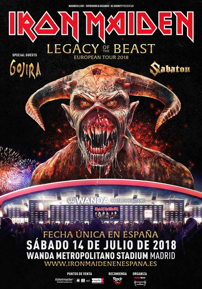 Legacy Of The Beast European Tour 2018 - Iron Maiden