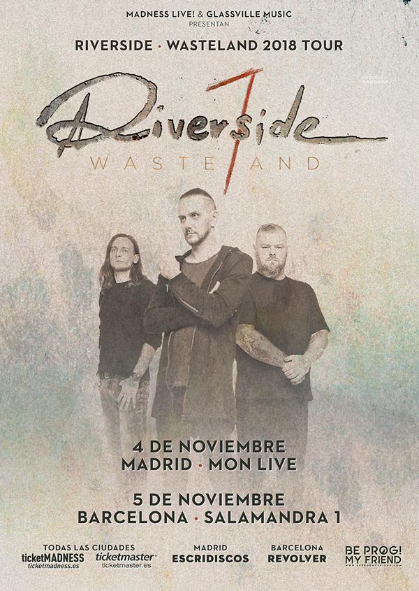 Los progresivos Riverside de gira en noviembre 2018