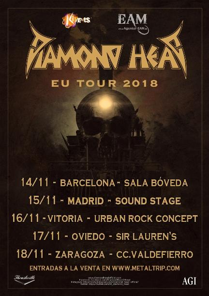 Señora gira de DIAMOND HEAD en noviembre 2018