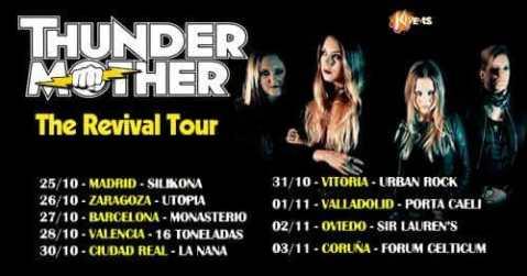 Thundermother vuelven de gira en otoño de 2018