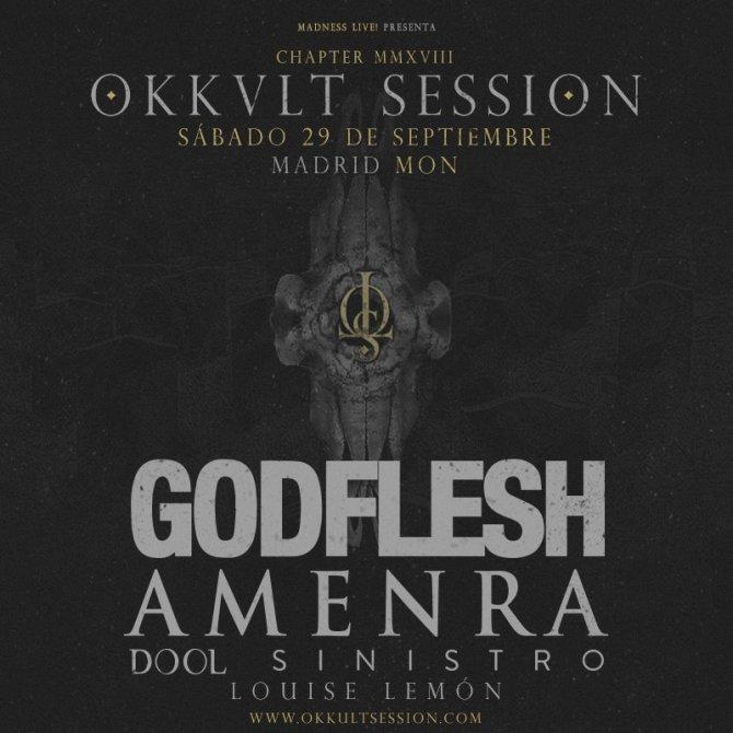 Cartel completo primera edición Okkult Session 2018