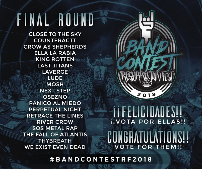 Los finalistas del Band Contest - Resurrection Fest 2018