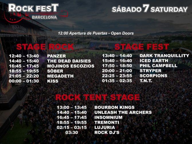 Ya están listos los horarios del Rock Fest Barcelona 2018