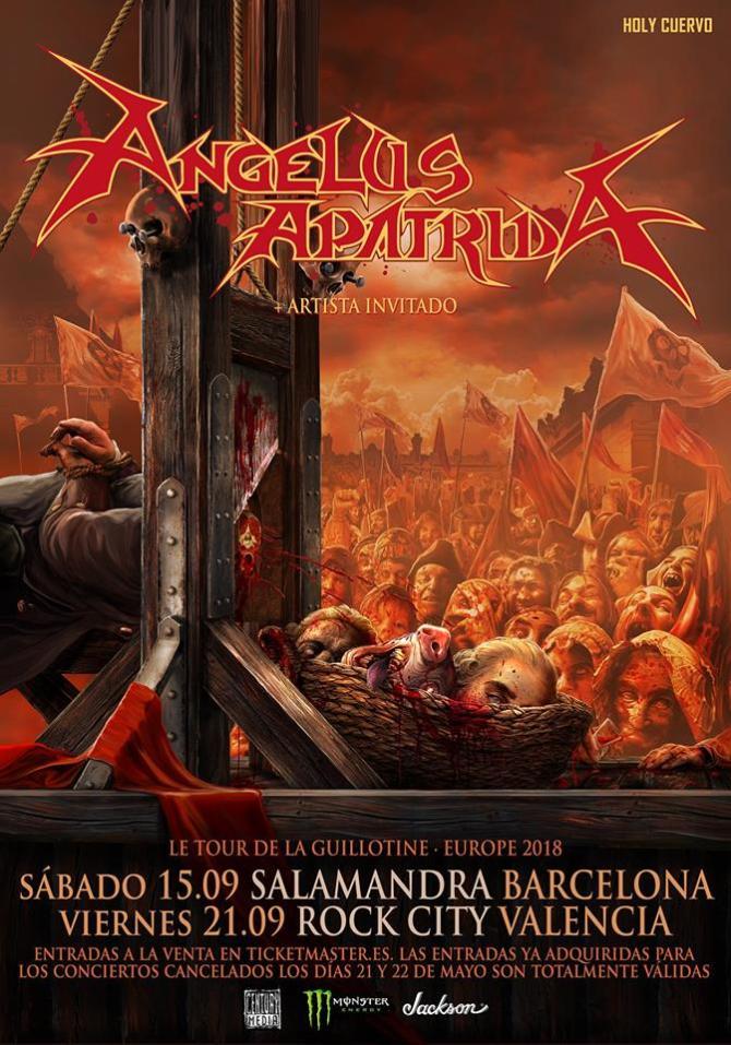 Ya hay fechas para Angelus Apatrida en Barcelona y Valencia