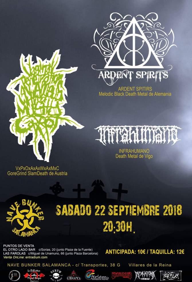 Recordamos los conciertos de Ardent Spirits en septiembre