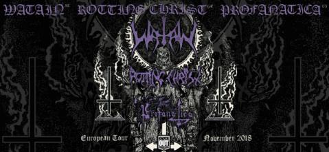 Watain, Rotting Christ y Profanatica partiendo noviembre 2018